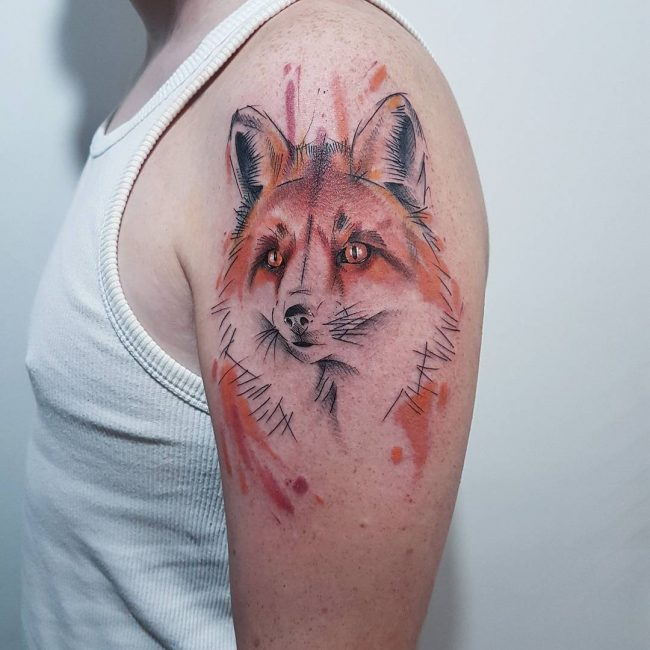 Fox Tattoo 107