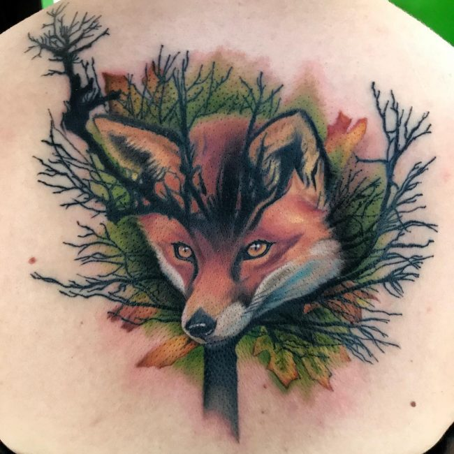 Fox Tattoo 108