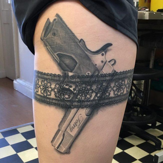 Garter Tattoo 56