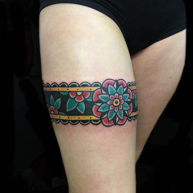 Garter Tattoo 58