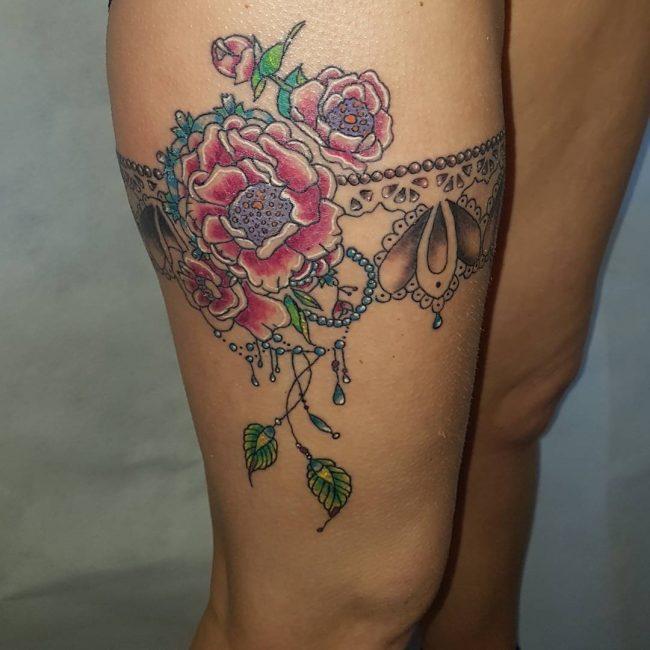 Garter Tattoo 60