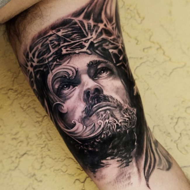 Jesus Christ Tattoo 37