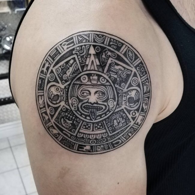fe7d0e483df64 105+ Symbolic Mayan Tattoo Ideas – Fusing Ancient Art with Modern ...