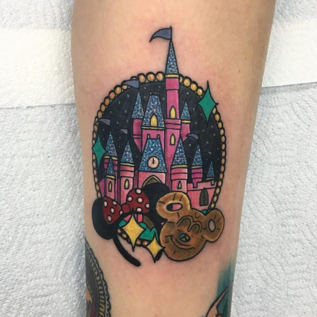 Mickey and Minnie Mouse Tattoo 48