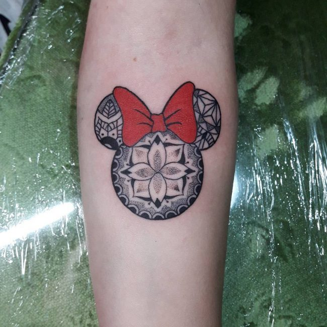 Mickey and Minnie Mouse Tattoo 51