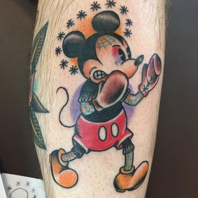 Mickey and Minnie Mouse Tattoo 52