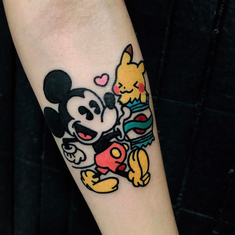 Mickey and Minnie Mouse Tattoo 58