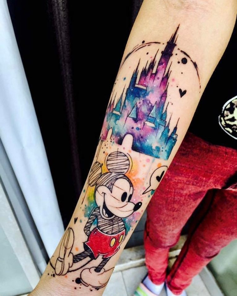 Mickey and Minnie Mouse Tattoo 59
