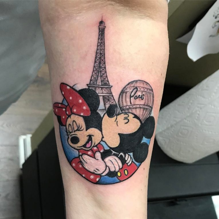 Mickey and Minnie Mouse Tattoo 64