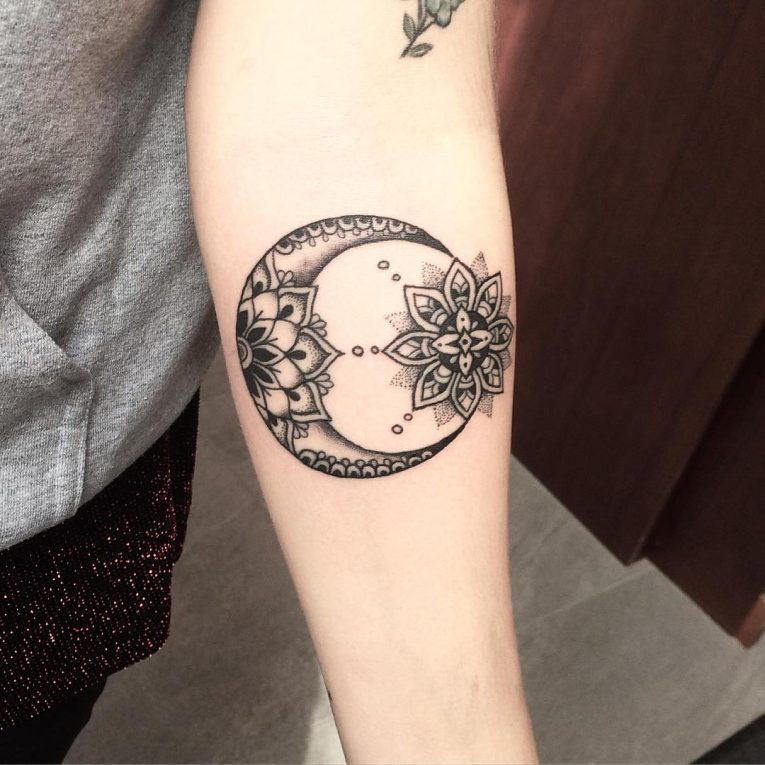Moon Tattoo 108