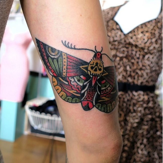 Moth Tattoo 68