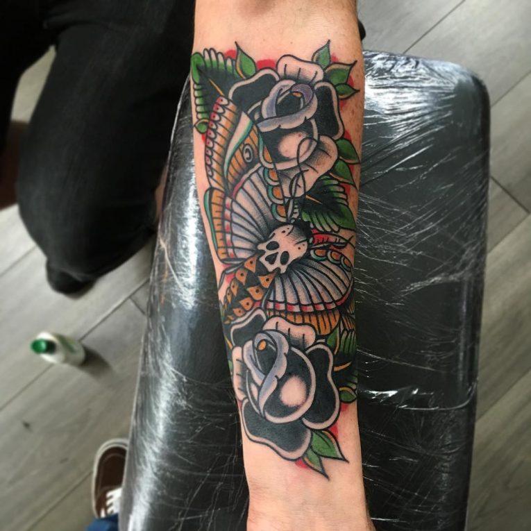 Moth Tattoo 86