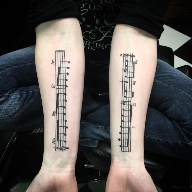 Music Note Tattoo 63