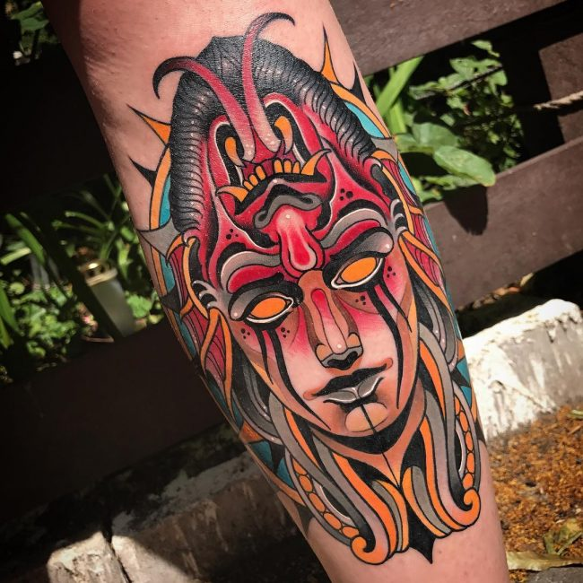 Neo-Traditional Tattoo 41