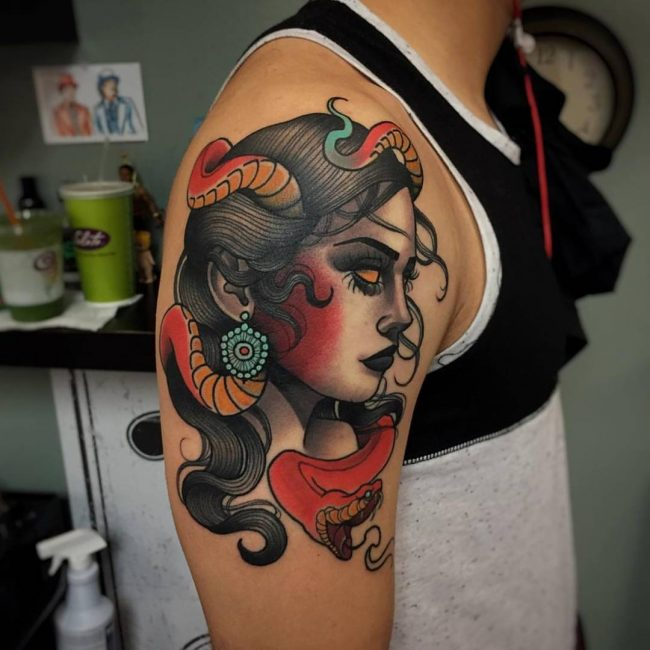 Neo-Traditional Tattoo 49