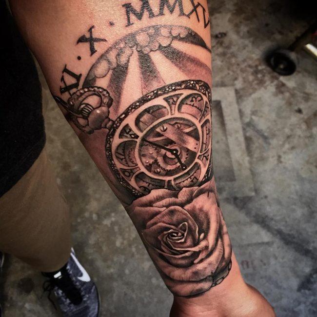 Pocket Watch Tattoo 106