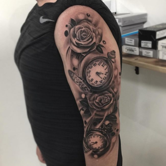 f7a73003b5ccd 125+ Timeless Pocket Watch Tattoo Ideas - A Classic and Fashionable ...