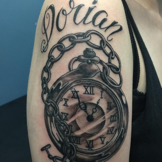 Pocket Watch Tattoo 112