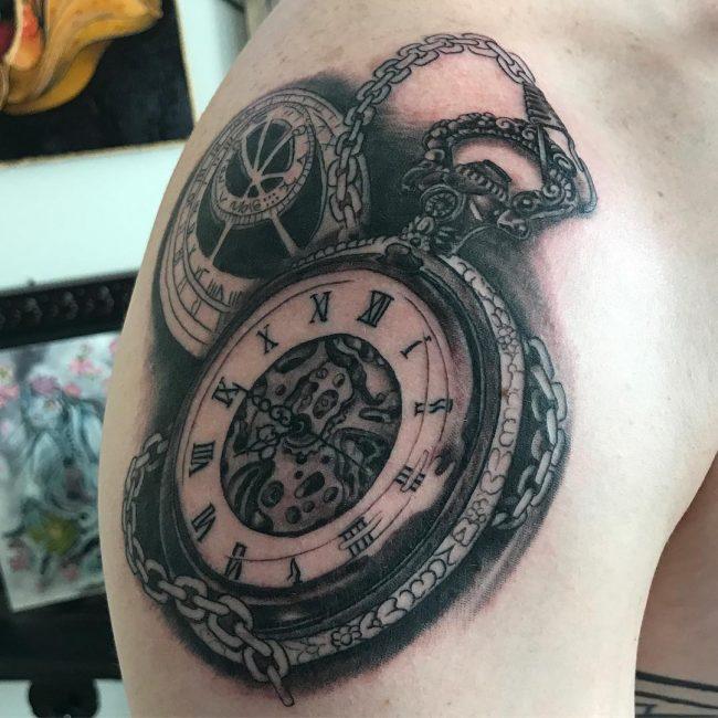Pocket Watch Tattoo 113