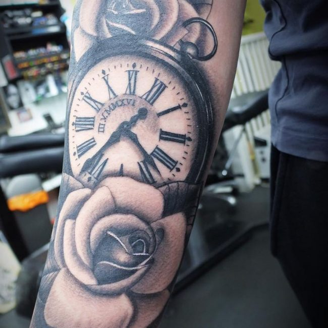 Pocket Watch Tattoo 114