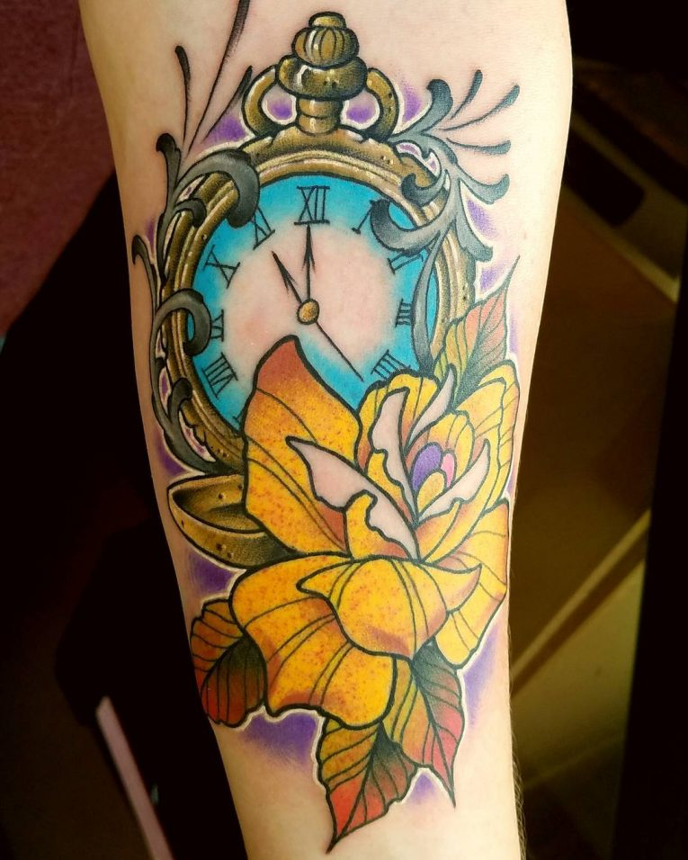 Pocket Watch Tattoo 116