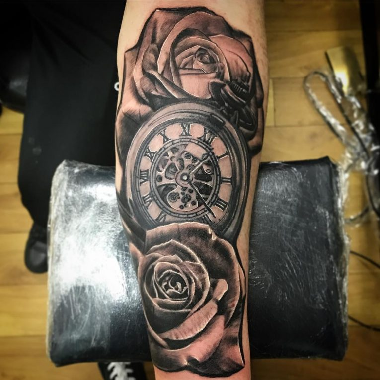Pocket Watch Tattoo 117