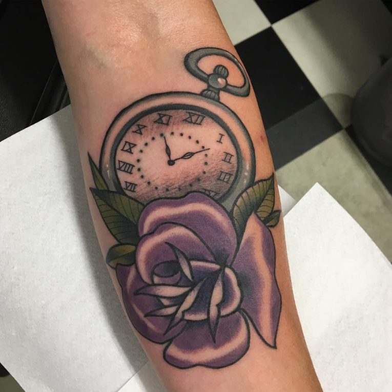 Pocket Watch Tattoo 120