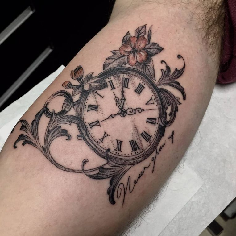 Pocket Watch Tattoo 121