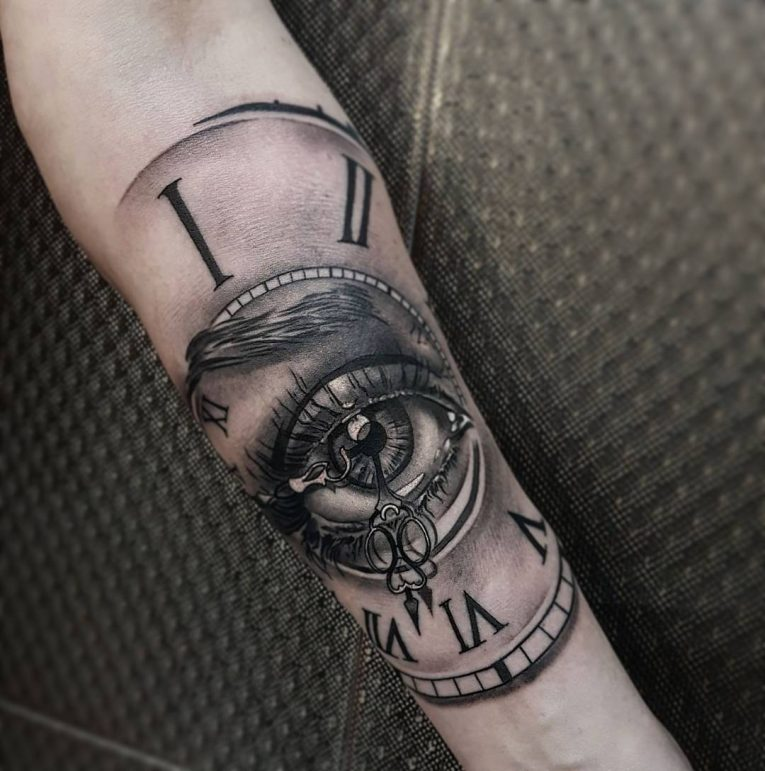 Pocket Watch Tattoo 124