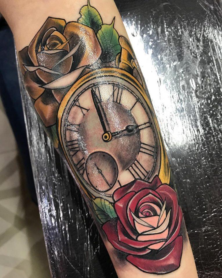 Pocket Watch Tattoo 125