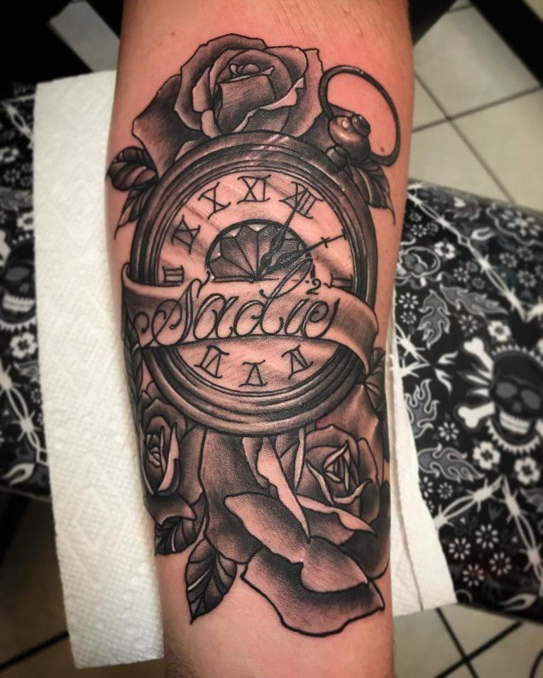 Pocket Watch Tattoo 126