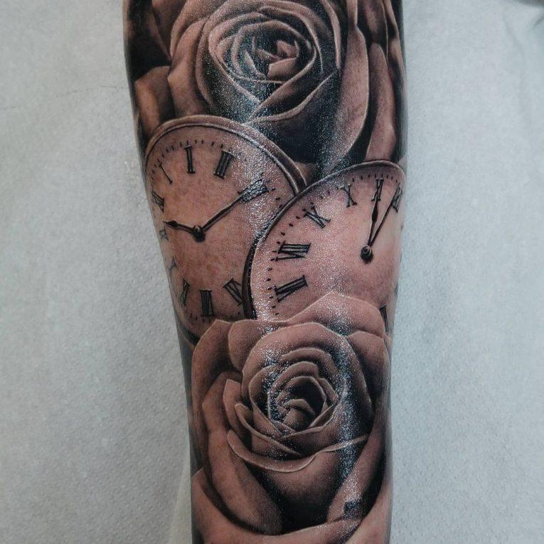 Pocket Watch Tattoo 127