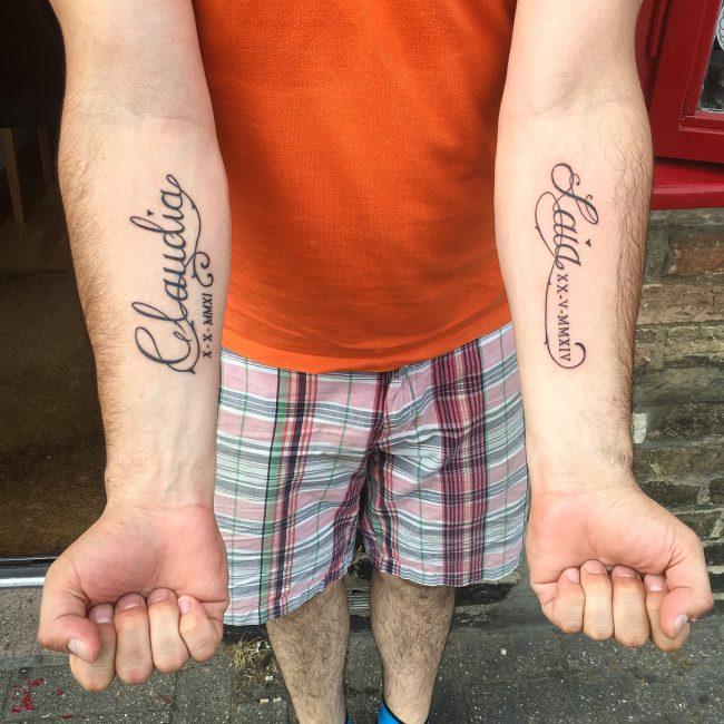 Roman Numeral Tattoo 56