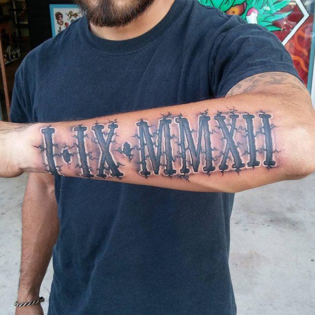 Roman Numeral Tattoo 59