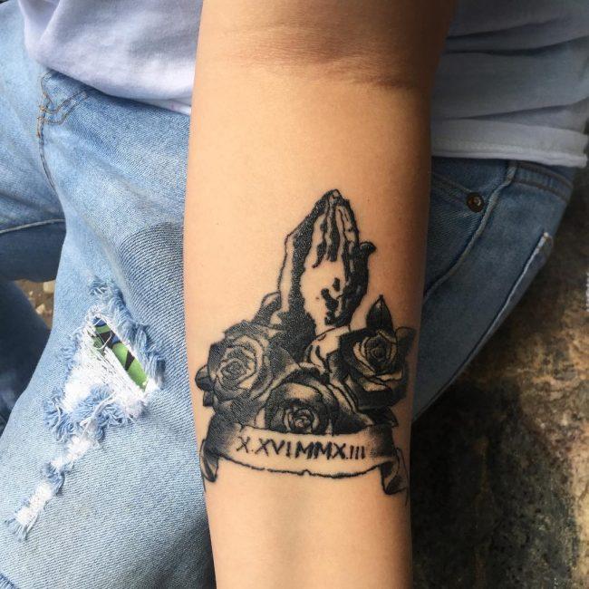 Roman Numeral Tattoo 60