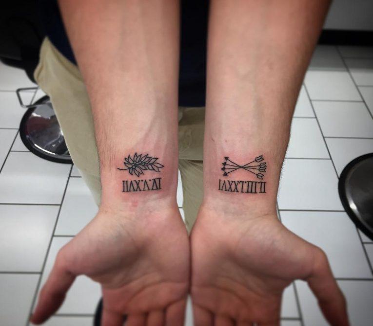 Roman Numeral Tattoo 65