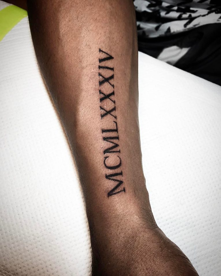 70 best roman numeral tattoo designs meanings be for Roman numerals tattoo creator