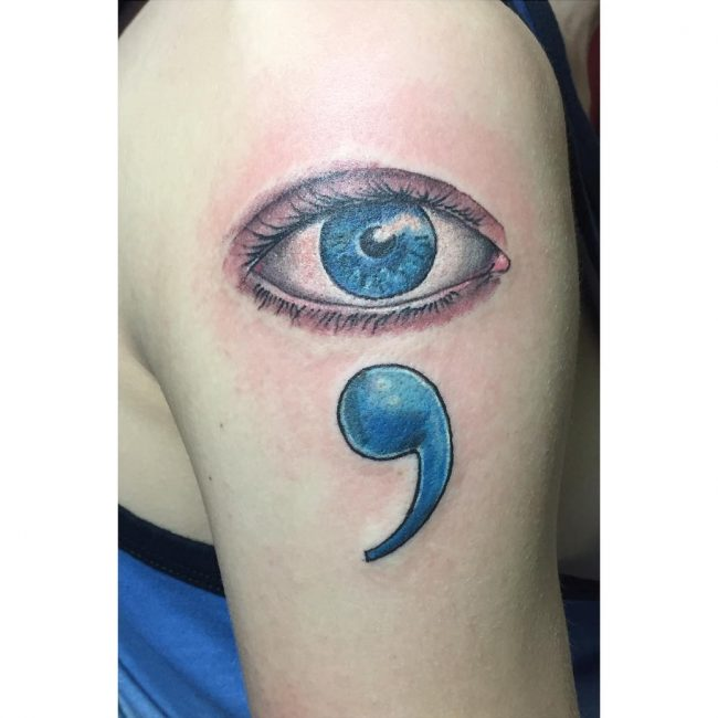 Semicolon Tattoo 49