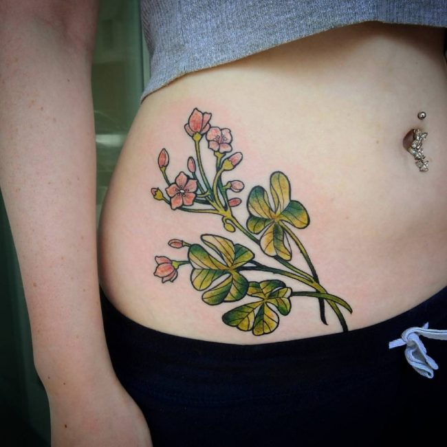 Bird Tattoos Shamrock Tattoos And: 75+ Colorful Shamrock Tattoo Designs