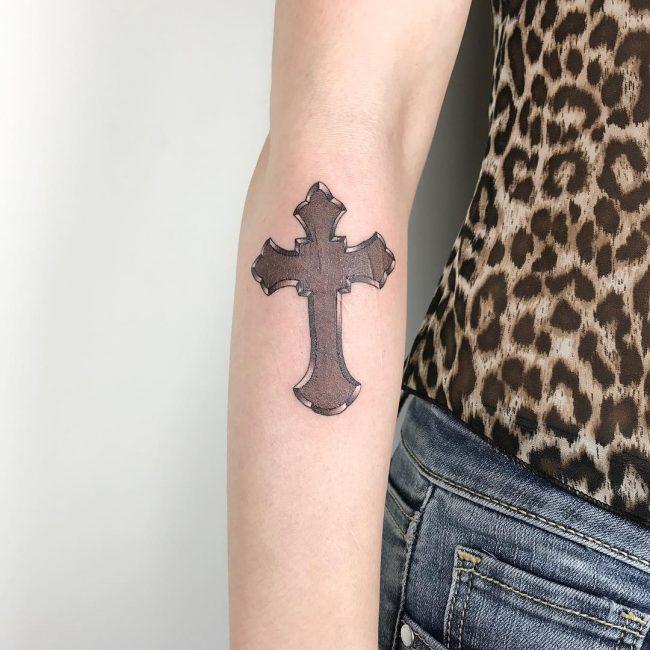 Small Cross Tattoo 35