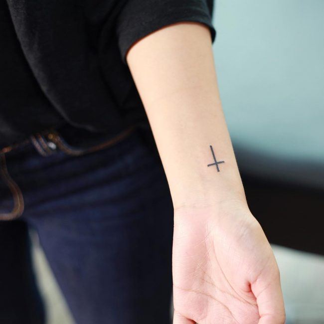 Small Cross Tattoo 36