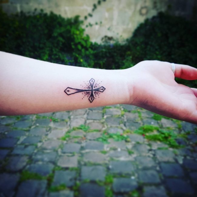 Small Cross Tattoo 37