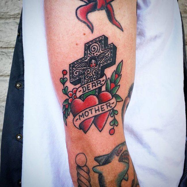 Small Cross Tattoo 38