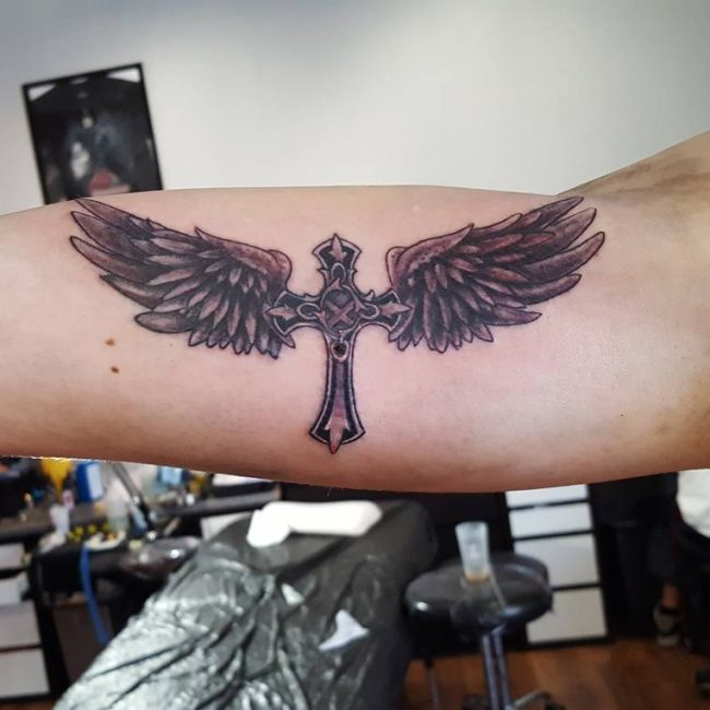 Small Cross Tattoo 39