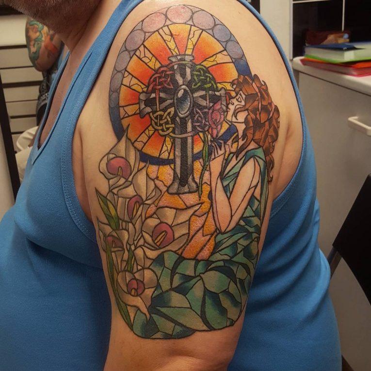 Small Cross Tattoo 42