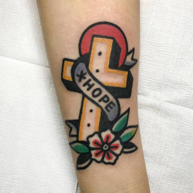 Small Cross Tattoo 48