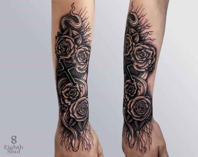 Small Cross Tattoo 50