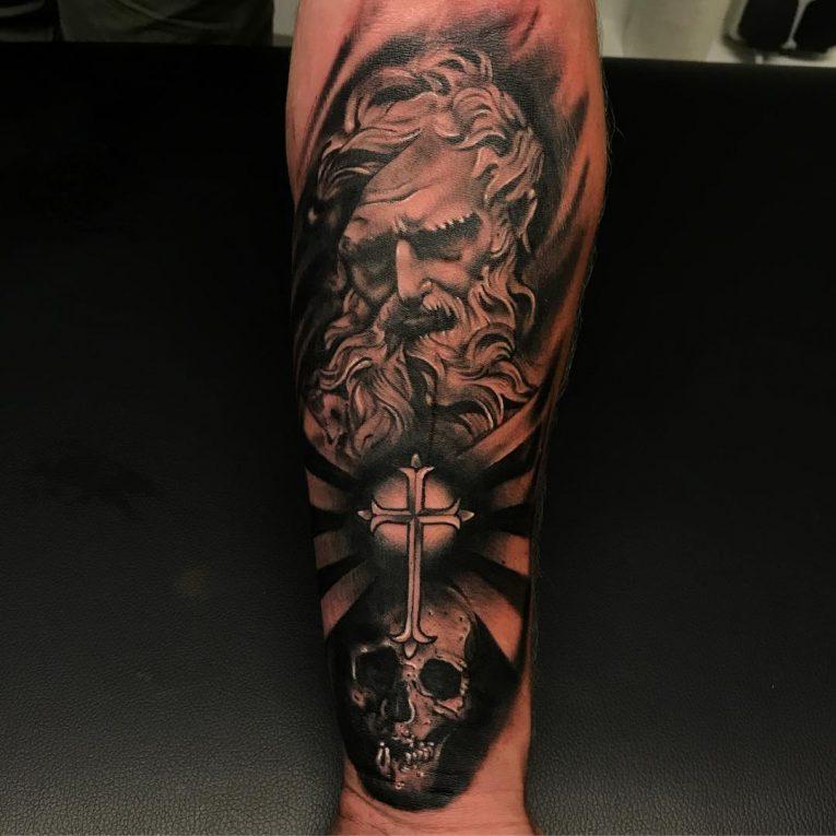 Small Cross Tattoo 52