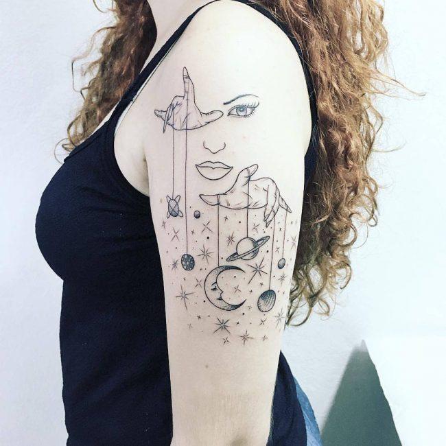 Solar System Tattoo 46