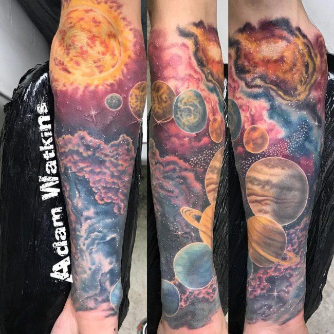Solar System Tattoo 47